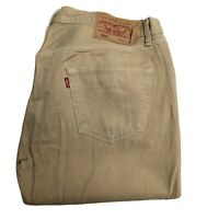 LEVIS 501 Mens Beige Straight Leg Regular Jeans W34 L32 (L211)