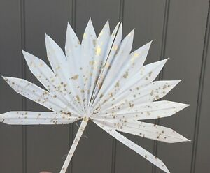 White with Gold Splatter Dried Sun Spear CAKE TOPPER Letterbox Dried Flowers.