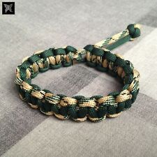 Mad Max Style Paracord Survival Bracelet - Camo & Green