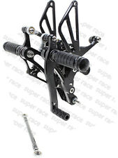 US Stock For Yamaha YZF-R1 2004-2006 CNC Rearset Foot Pegs Pedal Rearsets Black