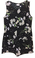Womens TOPSHOP Black Floral Sleeveless Playsuit - UK Size 6 8 10 12