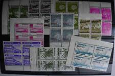 MÜ Bangladesh Dienstmarken 12-21 Viererblöcke postfr. Kompl. MW 100,-