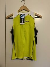 Louis Garneau Comp Sleeveless Triathlon Cycling Top Yellow/Black S BNWT Jersey