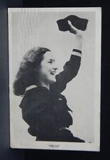 Vintage 1941 RPPC sailor woman Real Photo Postcard Posted Newick Brothers NJ