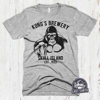 Vintage King Kong Beer Shirt Funny Brewery Tshirt Mens Beer Gifts Womens Shirt
