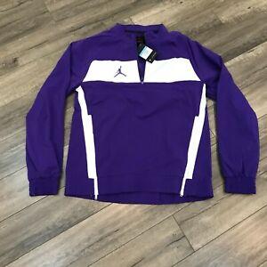 New Nike Jordan Team Woven Pullover Jacket Mens Medium Purple CD2218-545