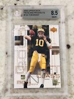 Tom Brady Patriots 2000 UD Pros & Prospects Rookie Card RC BGS 8.5 9 9.5 NM-MT+