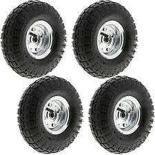 "4 x 10"" Inch Pneumatic Inflatable Go Kart Jockey Buggy & Bike Tyres Wheel Wheels"