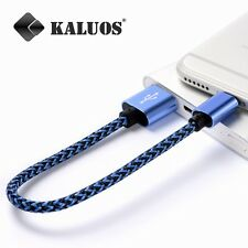 Short USB Cable for iPhone 6 Plus 6S 7 8 X XS 5S iPad Data Charger Original Lead