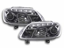 Coppia fanali fari  VW Touran 1T 03-06 + Caddy 2K 03- 2014 3' Serie cromati Led