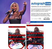 MARY J BLIGE signed Autographed 8X10 PHOTO a EXACT PROOF - Singer ACOA COA