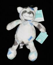 Play & Cuddle Plush Baby's First Nemcor Blue Plaid Raccoon Toy Little Miracles