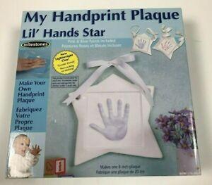 Milestones My Handprint Plaque Lil' Hands Star