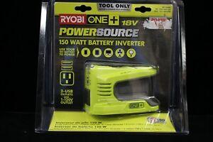 (MA2) RYOBI 18V ONE+ 150-watt Power Source Battery Powered Inverter RYi150BG