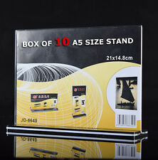 10x A5 Size Sign Holder Acrylic Retail Display Stands Menu Restaurant Display