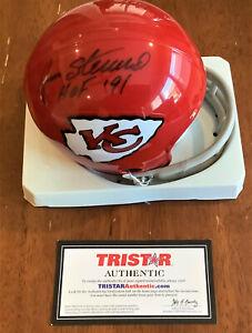 "Jan Stenerud ""HOF 91""  Chiefs Autographed Signed Throwback Mini Helmet -Tristar"