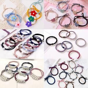 Women Girls Hair Ties Handmade Woven Elastic Rubber Band Ponytail Hair Rope Ring