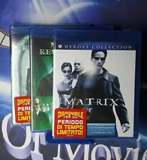 matrix , revolution * reloaded* 3 BLU RAY*NUOVO