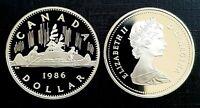 Canada 1986 Voyageur Proof Gem UNC Nickel Dollar!!