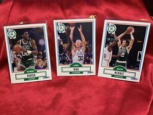 1990 Larry Bird, Robert Parish, & Kevin Mchale, Fleer Card Lot, Boston Celtics