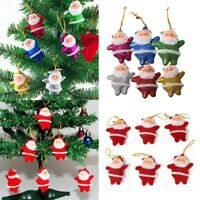 6pcs Christmas Santa Claus Ornaments Festival Party Tree Hanging Decor Gift Toy