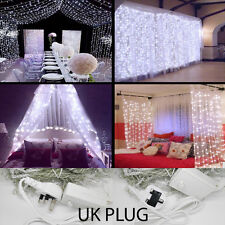 3M 6M LED Indoor Outdoor Curtain Wedding String Fairy Light Xmas Party UK PLUG