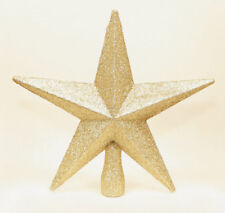 PALE GOLD Christmas Tree Top Star Topper Glitter finish 20cm star for top tree