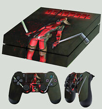 PS4 skin Lady Deadpool Dark 002 SEXY MERCENARY Wanda AUTOCOLLANT + PAD décalques