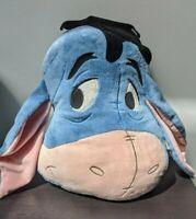 Disney Eeyore Head Pillow Cuddly Comforter Cushion Soft Toy Plush VGC