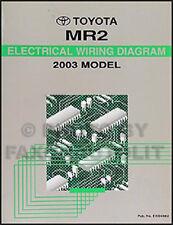 NEW 2003 Toyota MR2 Wiring Diagram Manual MR 2 Electrical Schematics Shop Repair