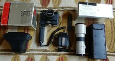 BOXED & CASED CANON F1n 35mm SLR FILM CAMERA 35mm f3.5 S.C. LENS + MANUALS