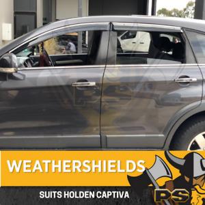Weathershields for Holden Captiva 5 & 7 06-16 Weather Shields Window Visors
