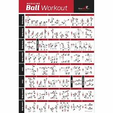 NewMe Fitness Medicine Ball Workout Poster - Laminated :: Illustrated Guide w...