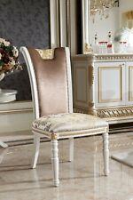 4 Stühle Set Esszimmer Designer Holz Stuhl Garnitur E62 Antik Stil Barock Rokoko