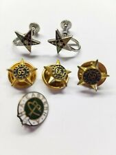 Order of Eastern Star Earrings PEO 65 66 and 68 year membership lapel pins