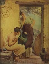 Originale künstlerische Malerein der Zeit Porträts & Personen von 1800-1899