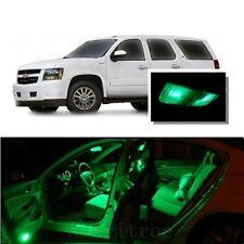 For Chevy Tahoe  2000-2006 Green LED Interior Kit + Green License Light LED
