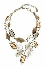NWT $175 Robert Lee Morris Soho Mixed Faceted Bead Frontal Statement Necklace