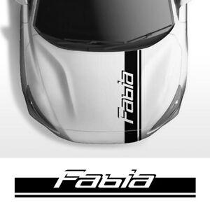 Skoda Fabia 1 2 3 MK1 MK3 Car Engine Bonnet Cover Trim Stripes Stickers Vinyl