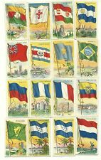 T-59 Flags of all Nations Series, 25 cards