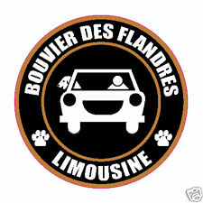 "LIMOUSINE BOUVIER DES FLANDRES 5"" DOG STICKER"