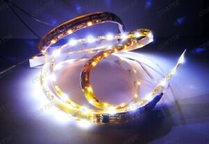 "2x 20"" 60 SMD LED WHITE AMBER Switchback Side Shine Glow Light strip SIGNAL DRL"