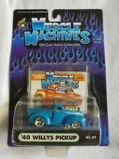 MUSCLE MACHINES '40 WILLYS PICKUP DIE CAST ADULT COLLECTIBLE TRUCK 1:64