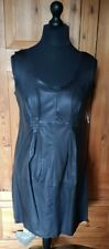 Part Two Black Leather Dress Size 14/40