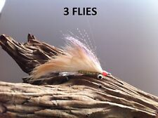 Shrimp Scampi Bonefish 3 Flies #2, #4 dumbbell eyes Mustad 34007 stainless