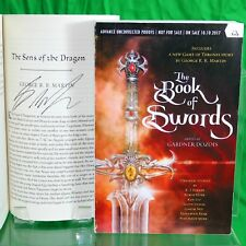 The Book Of Swords SIGNED by GEORGE R R MARTIN Game Of Thrones UNCORRECTED PROOF