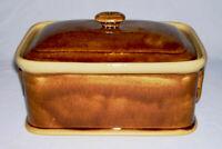 T.G. GREEN ~ Vintage Honey Glazed Stoneware Rectangular TERRINE/CASSEROLE ~ UK