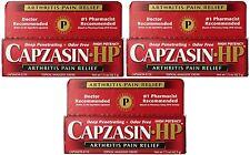 3 Pack CAPZASIN HP arthritis muscle pain relief cream 1.5 oz
