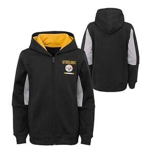 Pittsburgh Steelers Youth Boys Stay Warm Performance Full Zip Hoody Sweatshirt