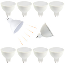 10x LED 230V GU5.3 MR16 12V 6 Watt Licht Leuchte Spot Strahler Warmweiß SMD *P06